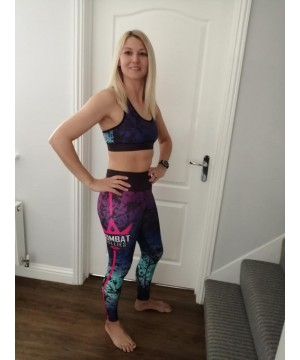 Combat Dollies Black Splatter Fitness Leggings