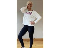 Step n Pump Essentials Luxe Ivory White- Pink Leopard LOVE Top