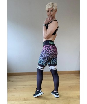Combat Dollies Fuchsia Fall Fitness Leggings
