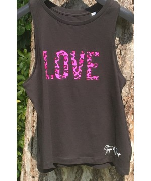 Step n Pump Essentials Black with Pink Leopard Love Vest