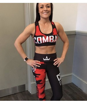 Combat Dollies Red Camo Fitness Leggings