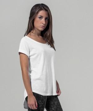 Step n Pump Essentials White 100% Cotton Long Slub T - Shirt