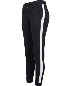 Step n Pump Essentials  Luxe Super Soft Black With White Loungewear Joggers