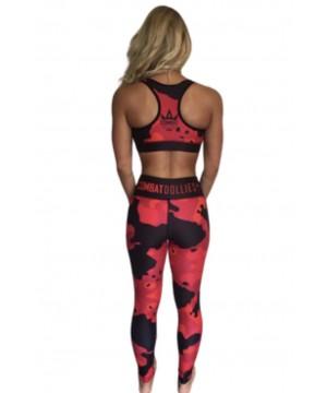 Combat Dollies Full Red Multicamo Sports Bra