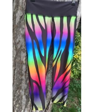 Combat Dollies Exclusive Multi-Coloured Zebra Print Fitness Capri