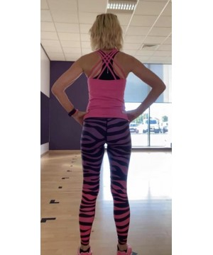 Combat Dollies Exclusive Purple/ Hot Pink Zebra Fitness Leggings