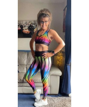 Combat Dollies Exclusive Multi  Coloured Zebra Print Fitness Leggings