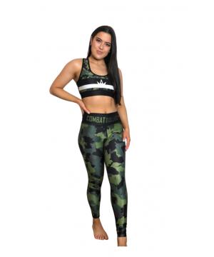Combat Dollies Complete Khaki Camo Fitness Leggings
