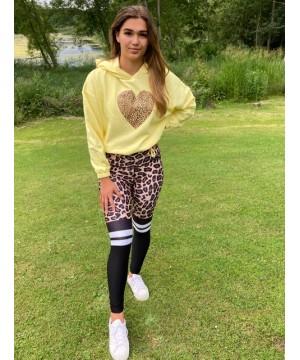 Step n Pump Essentials Lemon Leopard Heart Hoodies