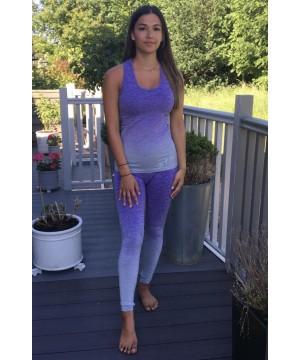 Step n Pump Essentials Purple- Grey Marl Ombre Vest Top
