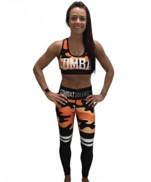 Combat Dollies Orange Camo Stripe Fitness Leggings