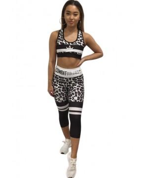 Combat Dollies White Leopard Sports Bra