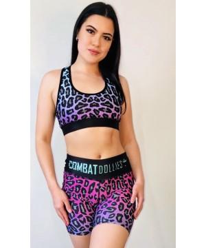 Combat Dollies Fuchsia Fall Fitness Shorts