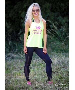 Step n Pump Essentials Neon Yellow Dancing Queen Vest Top