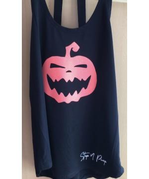 Step n Pump Essentials Halloween Orange Glitter Pumpkin Vest Top