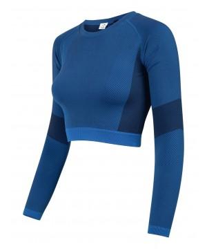 Step n Pump Essentials Seamless Bright Blue/Navy Long Sleevee Top