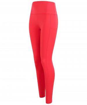 Step n Pump Essentials  Coral Red Core  Pocket Leggings