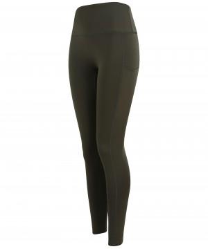 Step n Pump Essentials Khaki Green Core Pocket Leggings