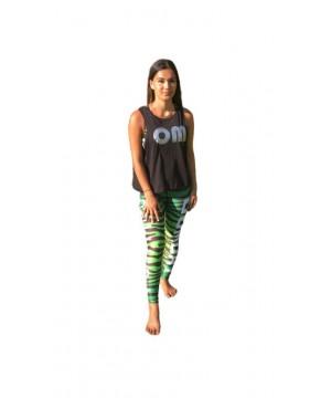 Combat Dollies Green Zebra Fitness Leggings