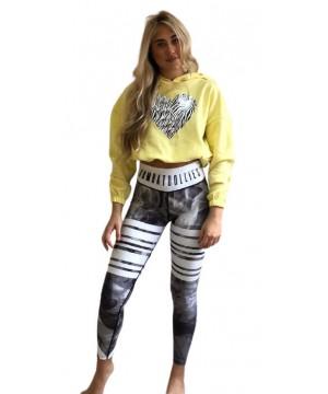 Step n Pump Essentials Lemon Zebra Heart Hoodie