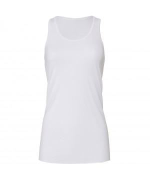 Step n Pump Essentials Plain White Signature  Flowy Vest Top