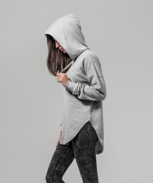 Step n Pump Essentials Loose Heather Grey Terry Hoodie
