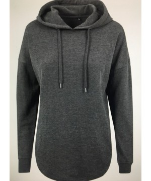 Step n Pump Essentials Loose Charcoal Grey Terry Hoodie