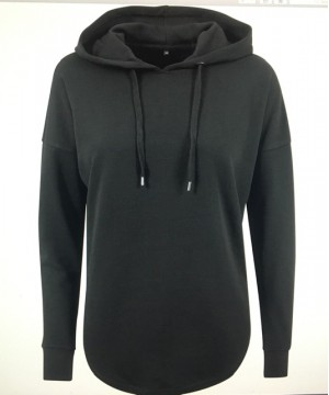 Step n Pump Essentials Loose Black Terry Hoodie