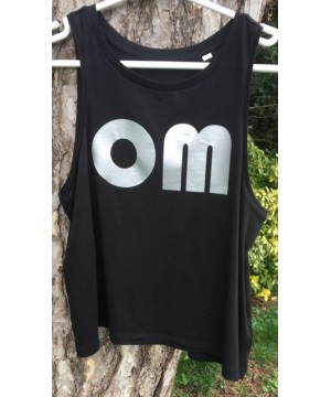 Step n Pump Essentials OM Organic Cotton Black Crop Vest