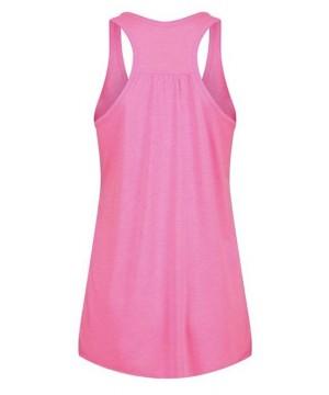 Step n Pump Essentials Plain Neon Pink Signature  Flowy Vest Top