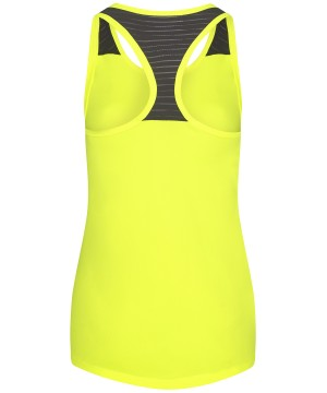 Step n Pump Essentials Electric Yellow Loose Fit Vest  With Black Mesh Racer Back