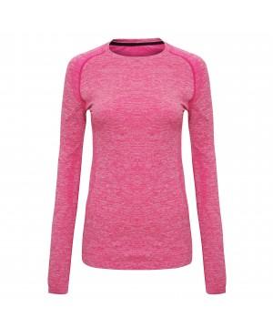 Step n Pump Essentials Pink Seamless Multi- Sport Performance Long Sleeve Top