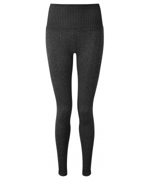 Step n Pump Essentials Charcoal Knitted Herribone Leggings
