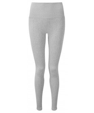 Step n Pump Essentials Heather Grey Knitted Herribone Leggings