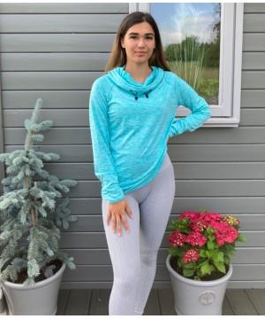 Step n Pump Essentials Heather Grey Knitted Herribone Leggings