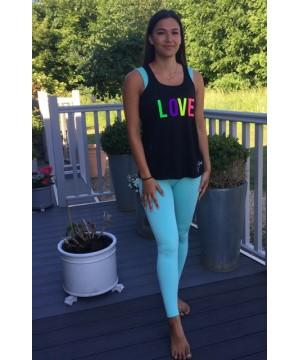 Step n Pump Essentials  Black LOVE Flowy Vest Top