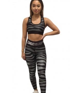 Combat Dollies Grey (khaki) Zebra Fitness Leggings