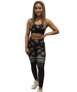 Combat Dollies Black Paisley Fitness Leggings
