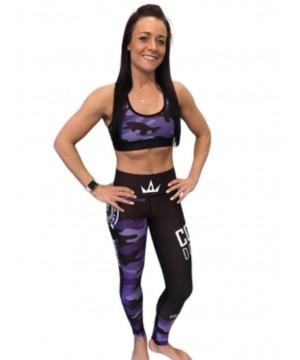 Combat Dollies Purple Camo Fitness Leggings