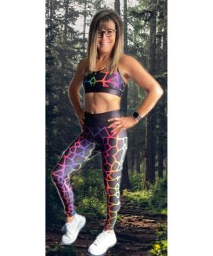 Combat Dollies Exclusive Neon Giraffe Fitness Leggings