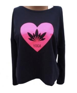 Step n Pump Essentials Navy-Pink Lotus Flower Yoga Top