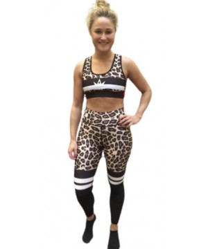 Combat Dollies Cream Leopard Print Half Mesh Sports Bra