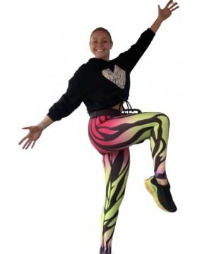 Combat Dollies Exclusive Caribbean Zebra Fitness Leggings