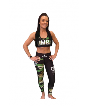 Combat Dollies Green Camo Fitness Leggings