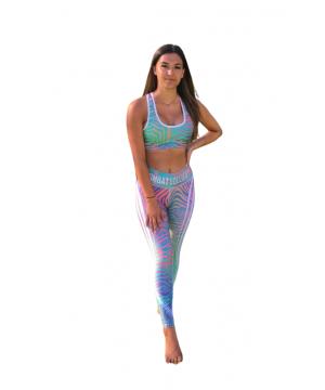 Combat Dollies Holographic Fitness Leggings