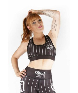Combat Dollies Black Baseball Sports Bra