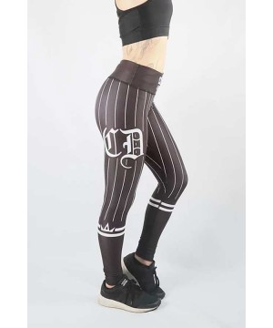 Combat Dollies Black on Black Baseball Fitness Leggings
