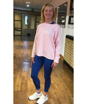 Step n Pump Essentials Luxe Baby Pink- Silver  Pilates Top