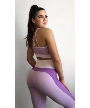Step n Pump Essentials Seamless Light Pink/Purple padded crop top