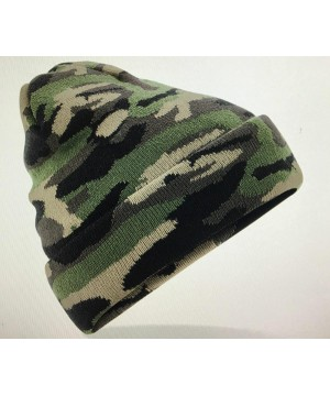Step n Pump Essentials soft touch green Camo Cuffed Beanie